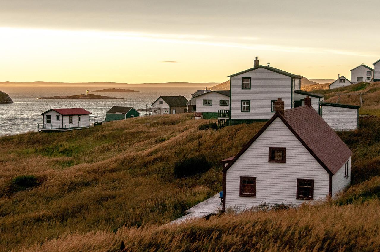 Historic buildings in Battle Harbour, Canada
