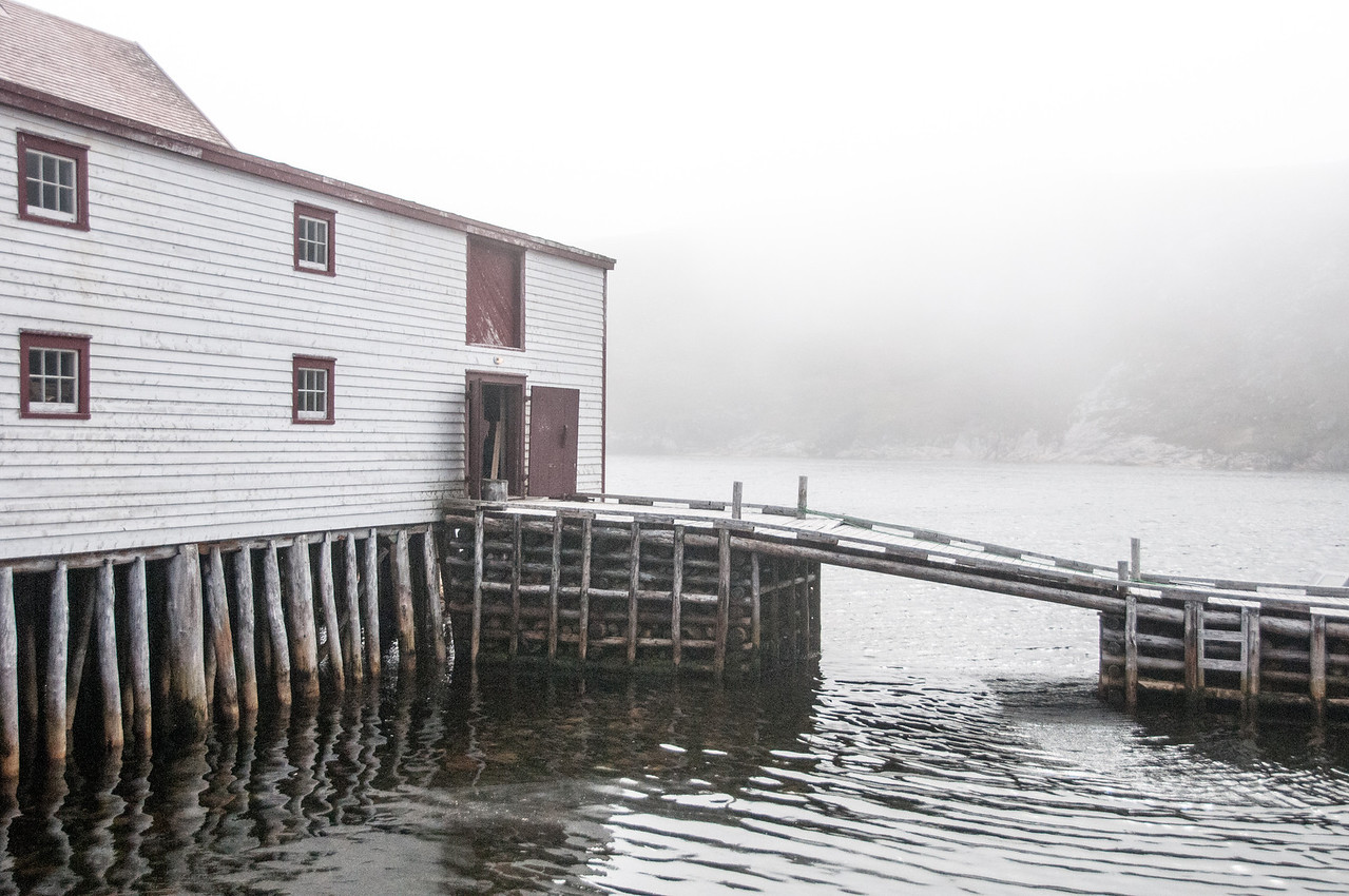 Wooden dock at Battle Harbour, Canada