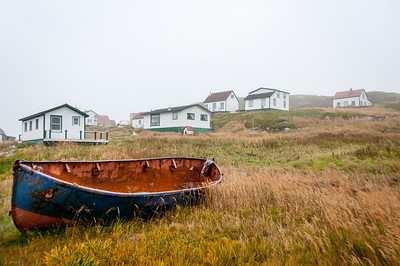Old boat in Battle Harbour, Canada