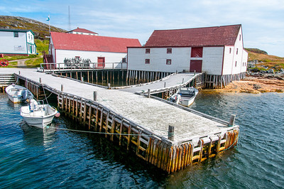 Buildings near the dock in Battle Harbour, Canada