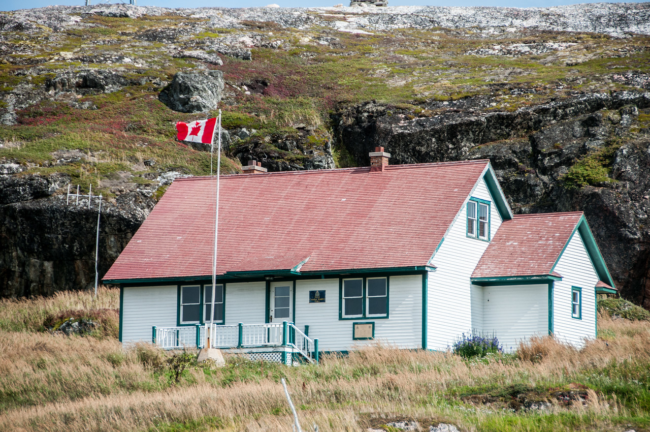 The cottage of Wilfred Grenfell at Battle Harbour, Canada