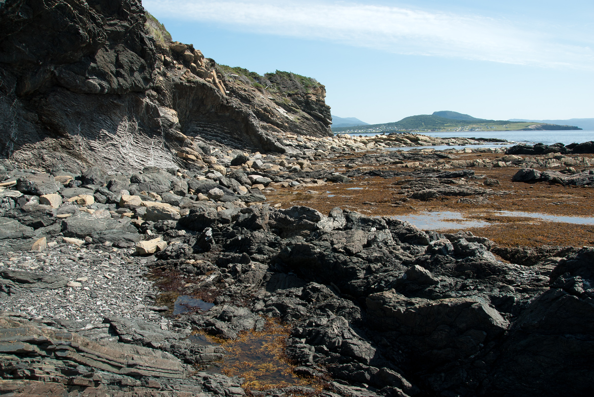 The rocky shore of Gros Morne National Park, Newfoundland