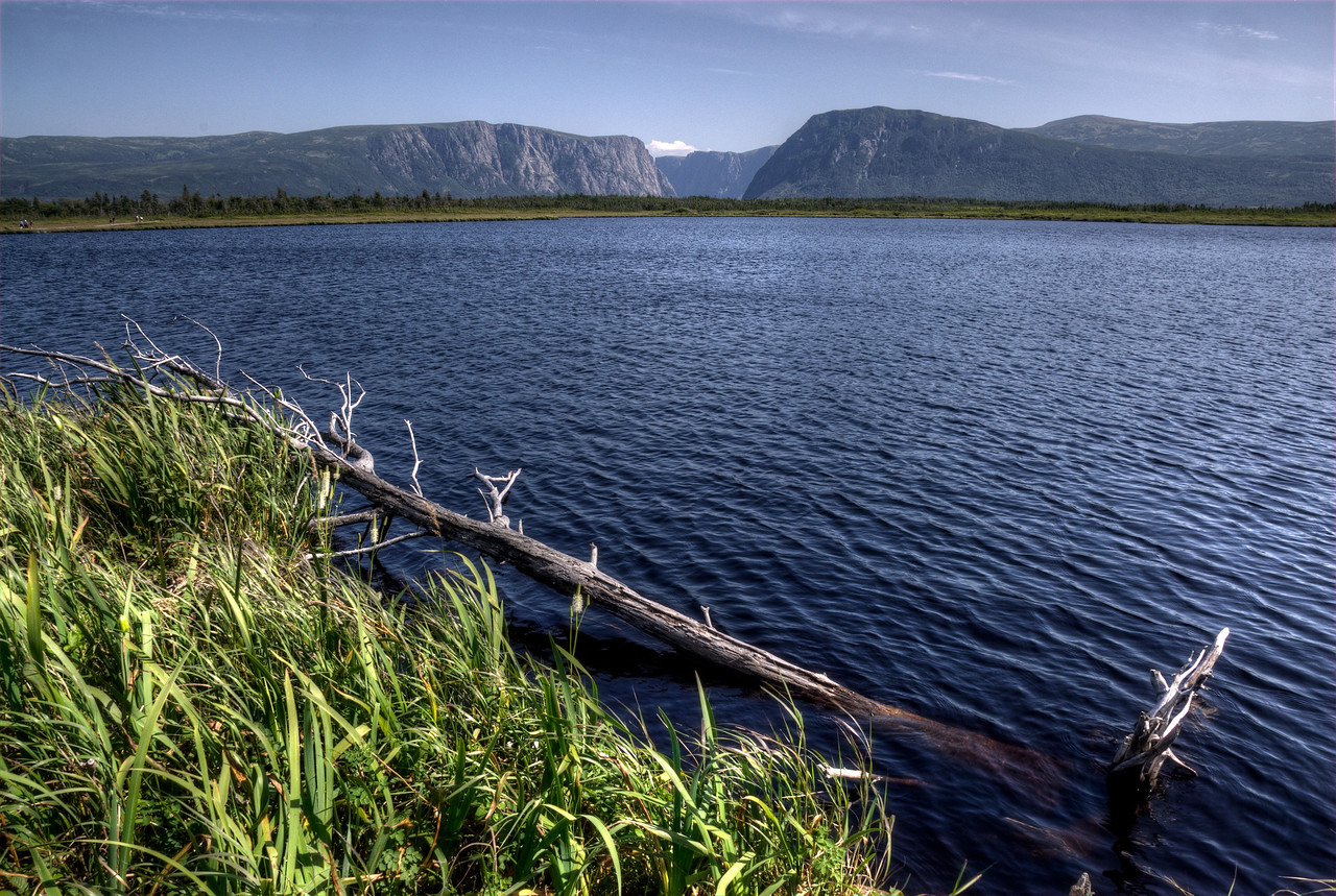 Western Brook Pond in Gros Morne National Park, Newfoundland and Labrador, Canada