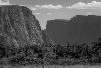 A fjord valley at Ten Mile Pond in Long Range Mountains - Gros Morne National Park