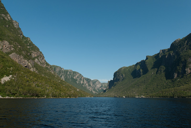 Western Brook Pond in Gros Morne National Park, Canada