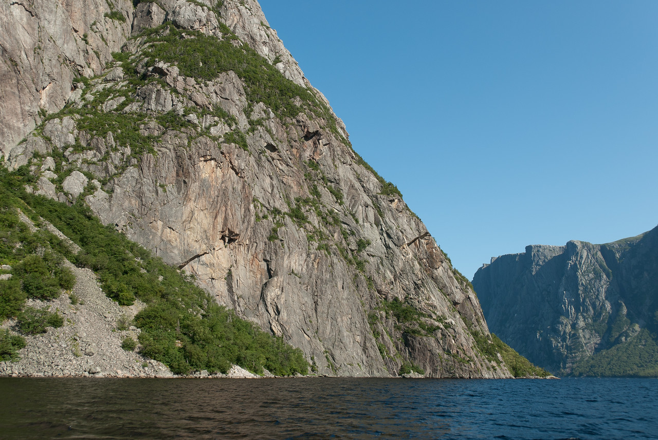 Walls of Gros Morne Mountain in Newfoundland, Canada