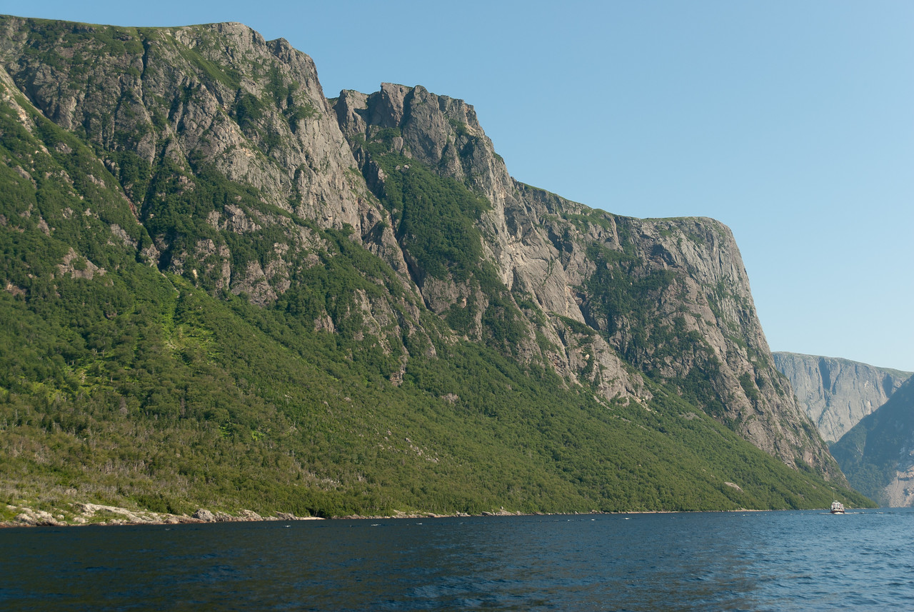 A fjord valley in Ten Mile Pond, Gros Morne National Park