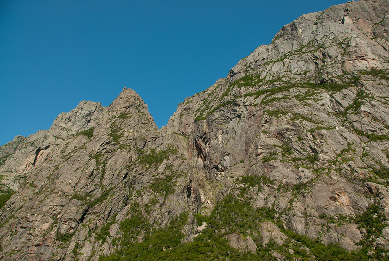 Looking up the Gros Morne Mountain in Newfoundland, Canada