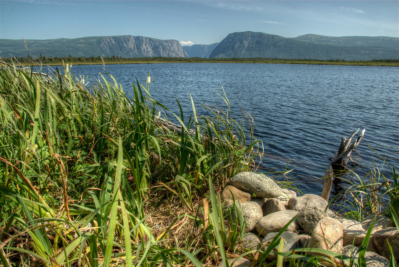 Western Brook Pond as seen from the shore - Gros Morne National Park, Newfoundland