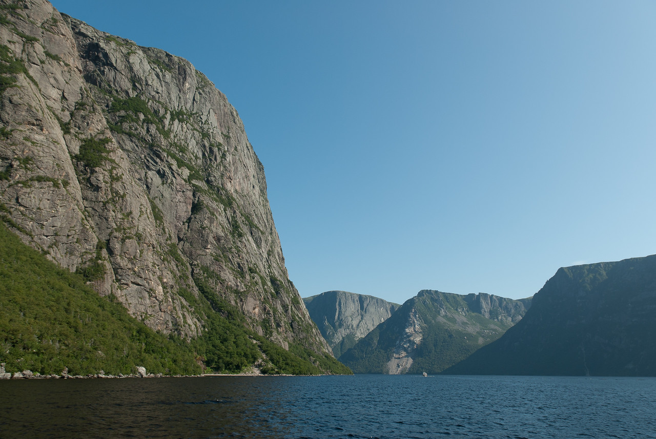 A fjord valley in Ten Mile Pond, Gros Morne National Park, Canada