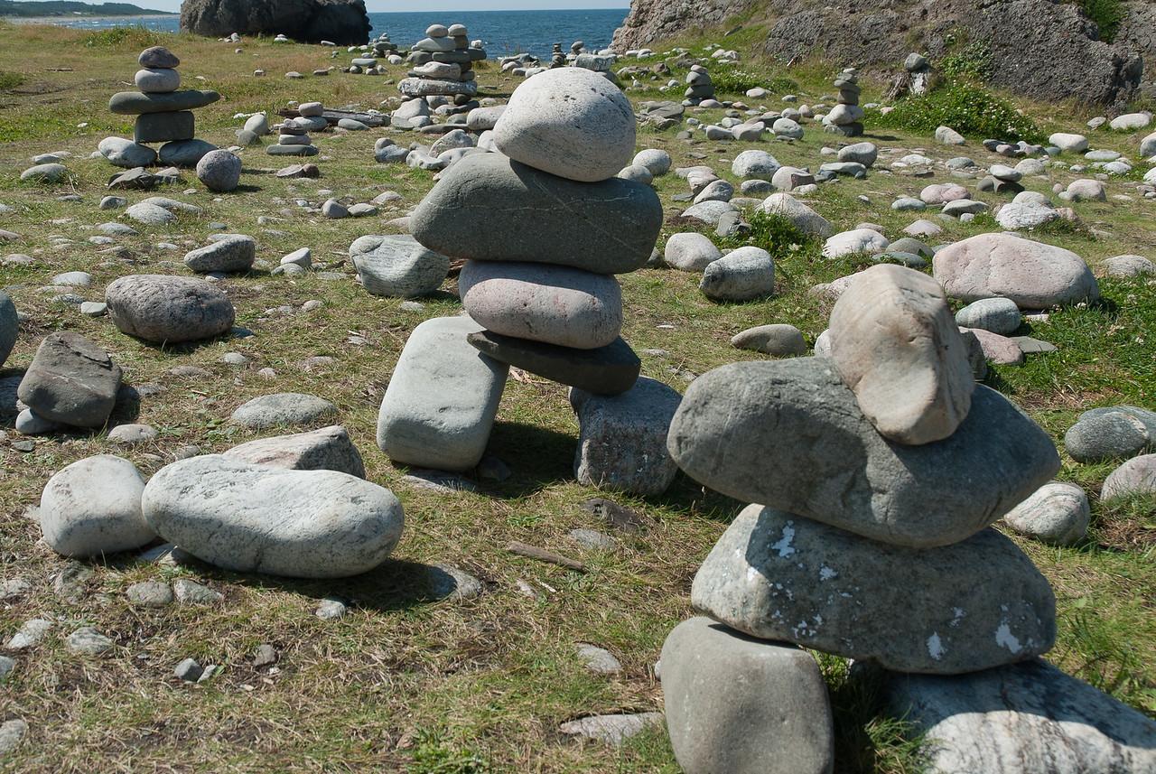 Rock statue along the sea shore in Gros Morne National Park, Canada