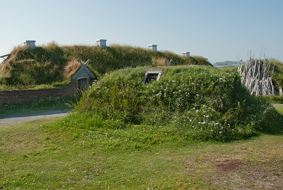 Recreated Norse long house in L'Anse Aux Meadows, Newfoundland, Canada