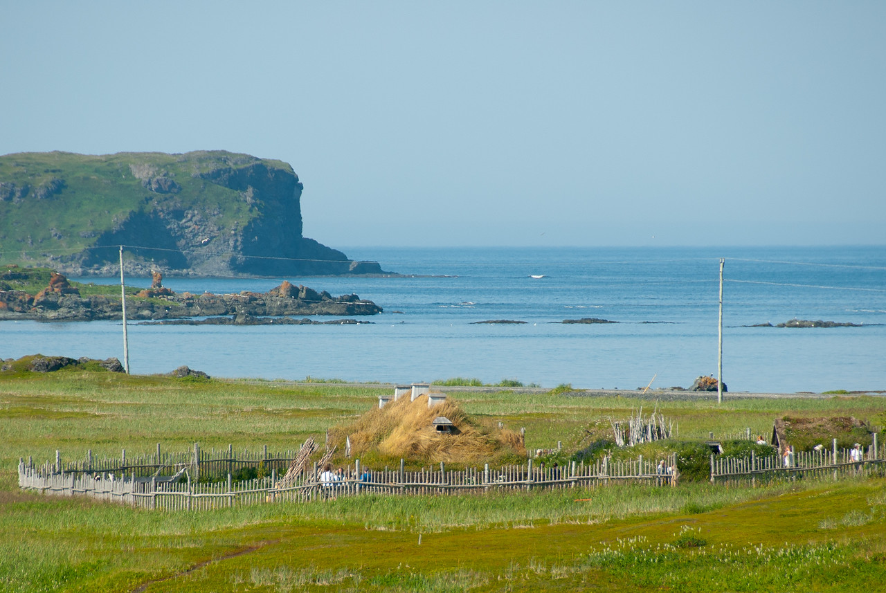 Iceberg Alley Atlantic Ocean coastline in L'Anse Aux Meadows, Newfoundland, Canada