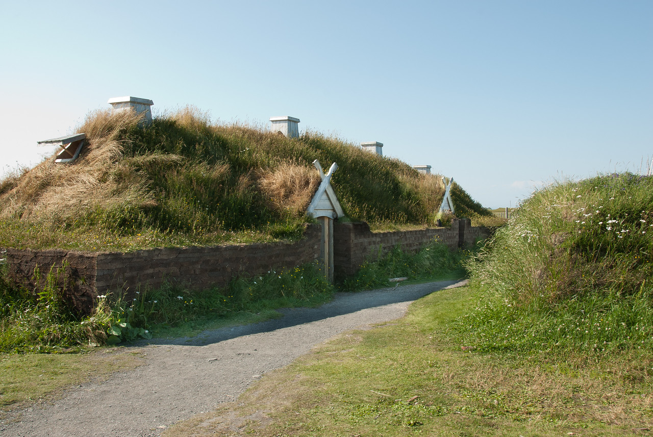 Recreated Norse long house, L'Anse aux Meadows, Newfoundland