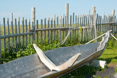Reconstructed boat at L'Anse aux Meadows, Newfoundland