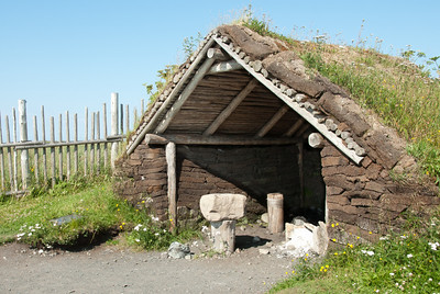 Recreated Norse long house in L'Anse Aux Meadows