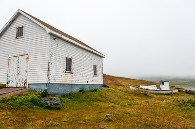 Abandoned building near the dock in Red Bay, Canada