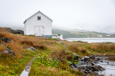Abandoned building in Red Bay, Canada