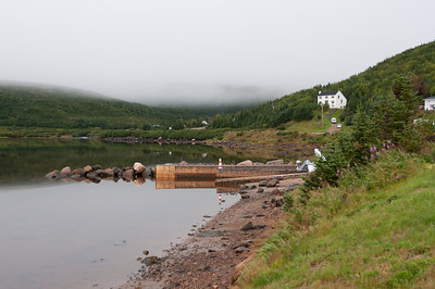 View from the shoreline in Red Bay, Newfoundland and Labrador, Canada