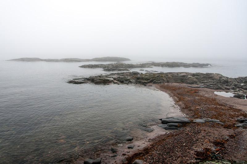 Rocky shores of Red Bay, Newfoundland and Labrador, Canada