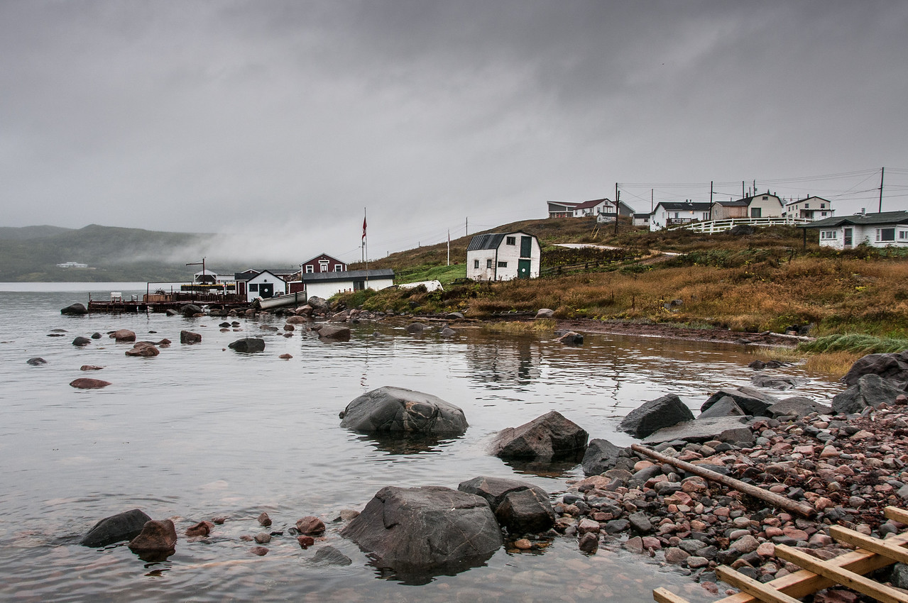 Houses at the town of Red Bay in Newfoundland and Labrador, Canada