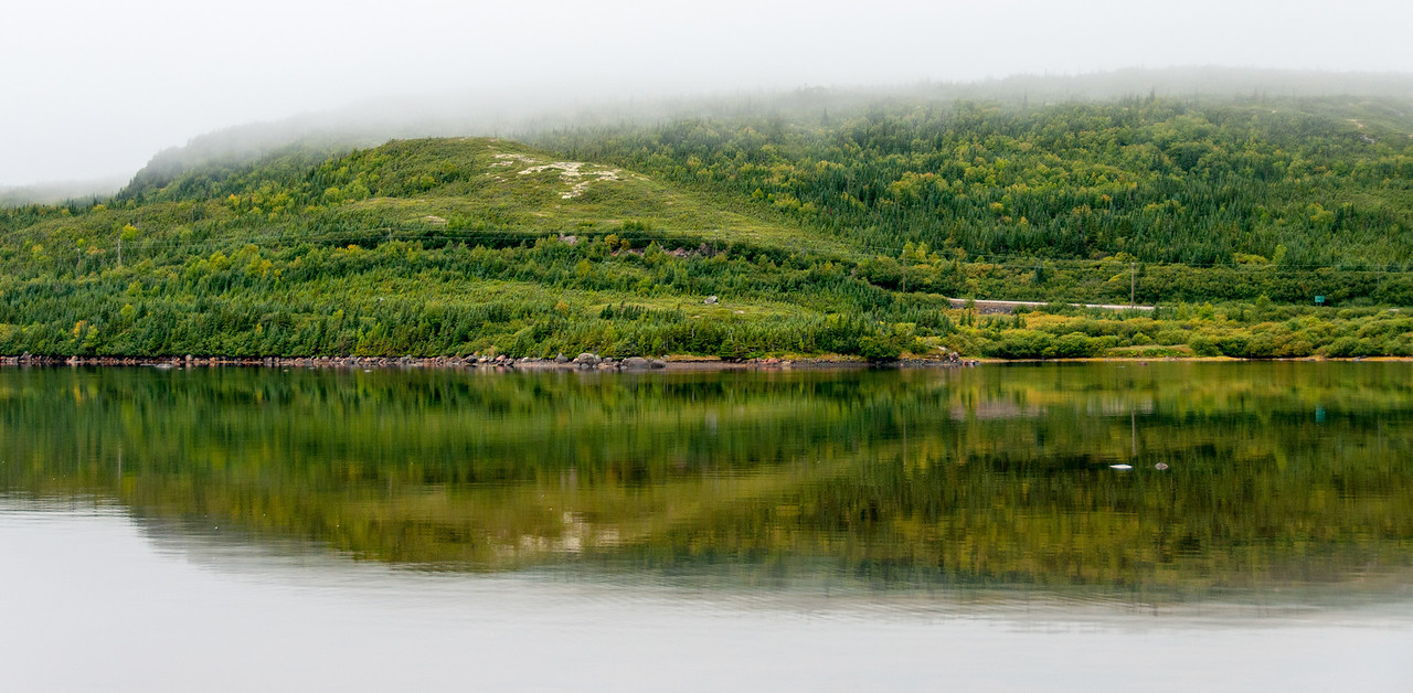 Panorama of Red Bay in Newfoundland and Labrador, Canada