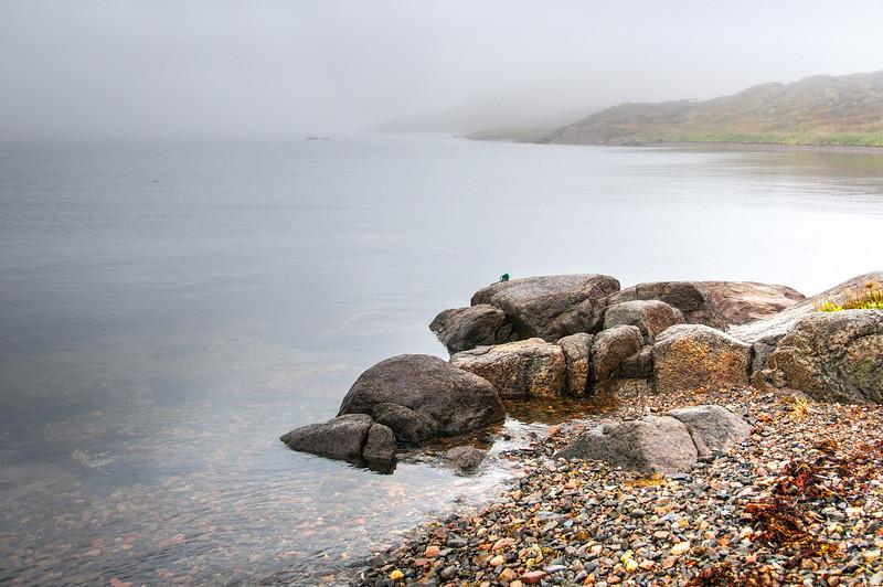 Rocky shores in Red Bay, Newfoundland and Labrador, Canada