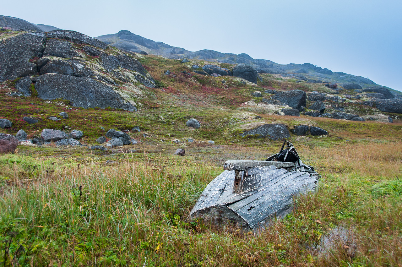 Boat wreck in Red Bay, Newfoundland and Labrador, Canada
