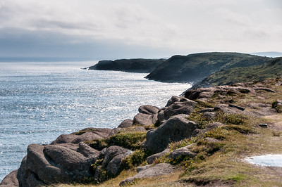Rocky cliffs in Cape Spear in St John's, Newfoundland, Canada