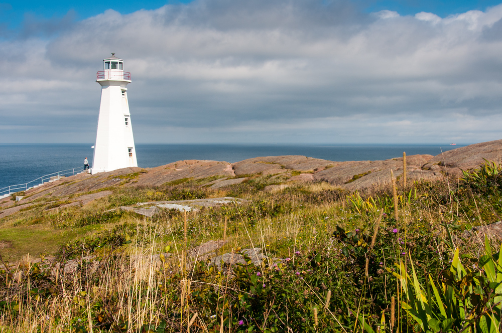 The Lighthouse at Cape Spear, Newfoundland, the Easternmost Point in North America