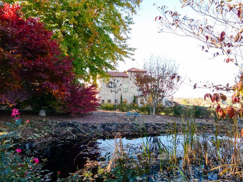 The gardens at Raffaldini Vineyards and Winery in Ronda, North Carolina.