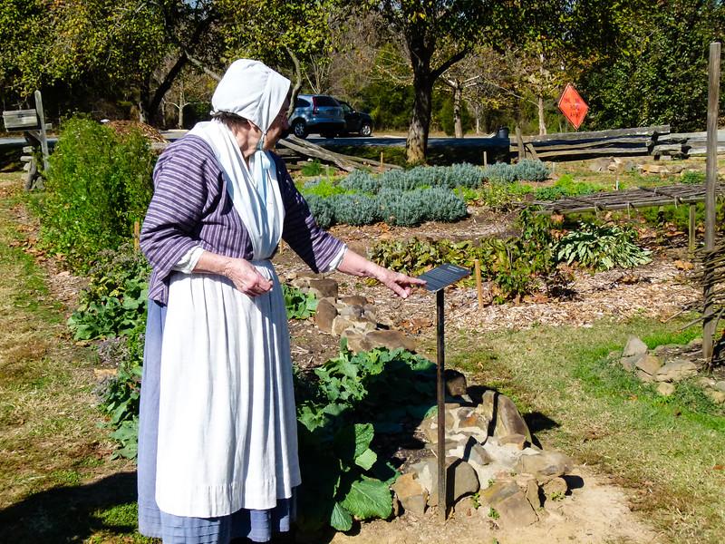 Touring the gardens at Bethabara City Park in Winston-Salem, North Carolina.