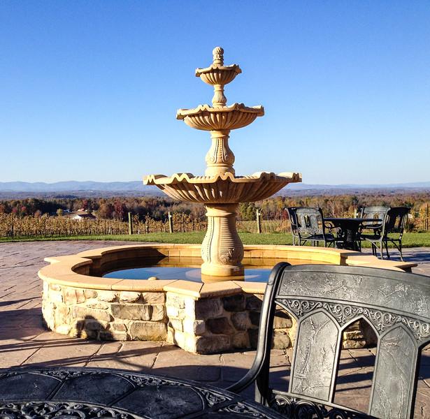The patio at Villa Raffaldini in Ronda, North Carolina