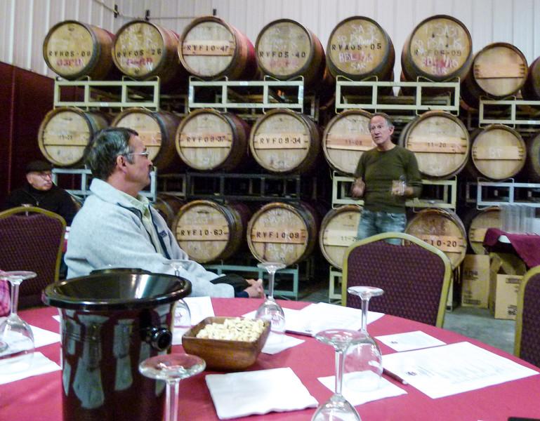 Jay Raffaldini leads a wine blending class at Raffaldini Vineyards and Winery in North Carolina.