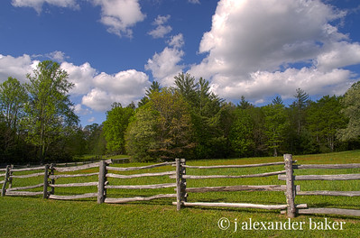 Split Rail Fence, Blue Ridge Parkway