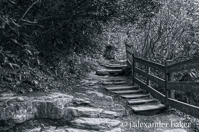 Stairway at Linville Falls Viewpoint
