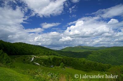 Blue Sky on the Blue Ridge (sans Red Apple Barn)
