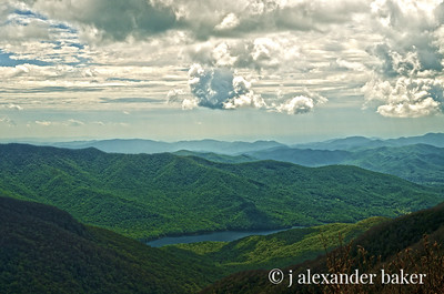 Why they're called the Blue Ridge Mountains.
