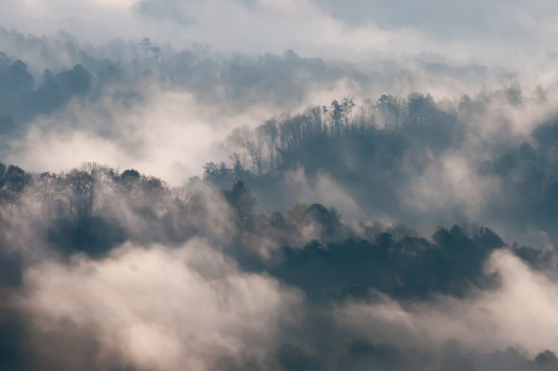 Great Smoky Mountains in the Tennessee-North Carolina border