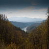 Aerial view of the Great Smoky Mountains in the TN-NC border