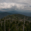 Aerial view of the Great Smoky Mountains