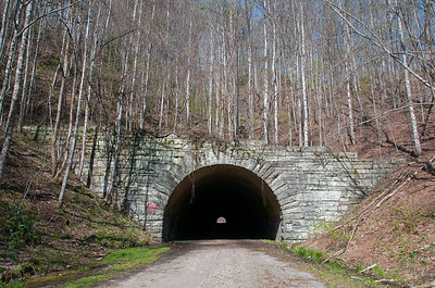 Tunnel on the east end of Lakeshore Trail in Great Smoky Mountains