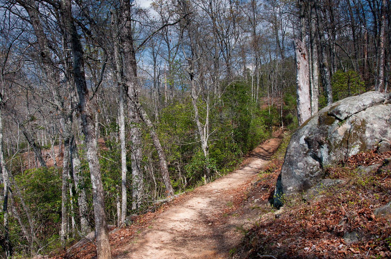 The Appalachian Trail in the Great Smoky Mountains in Tennessee-North Carolina border
