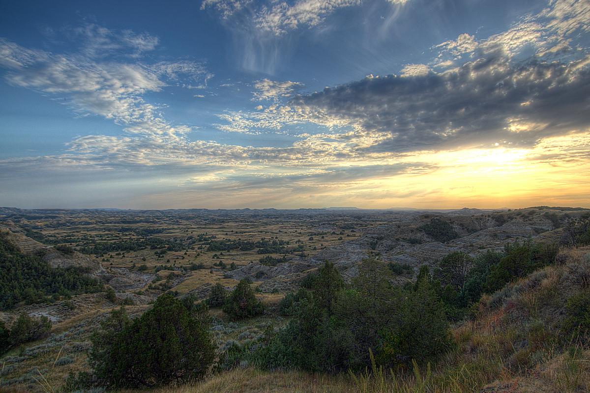 Sunset at Theodore Roosevelt NP, North Dakota