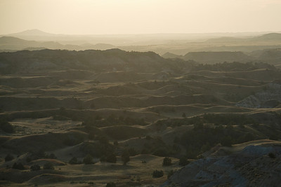 Panorama of Theodore Roosevelt National Park in North Dakota
