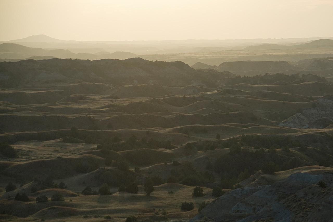 Panorama of Theodore Roosevelt National Park in North Dakota