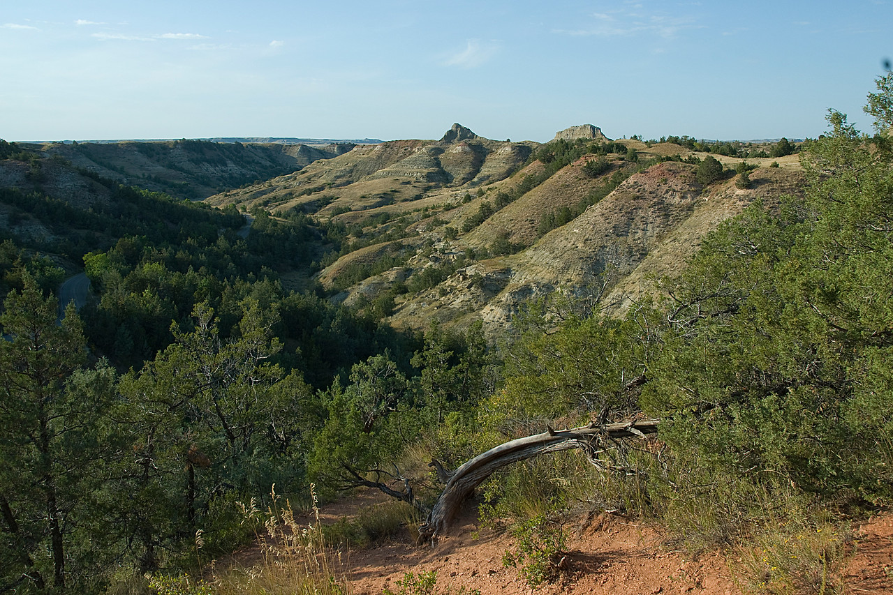 Panorama of Theodore Roosevelt National Park, North Dakota
