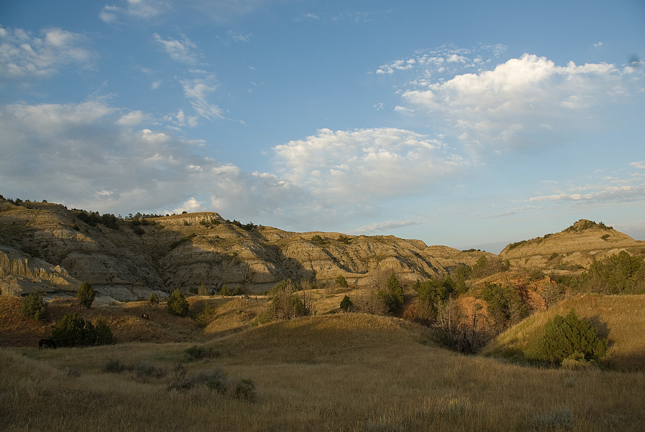 Badlands in Theodore Roosevelt National Park in North Dakota