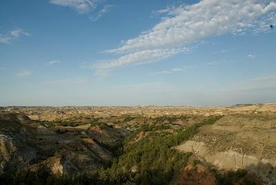 Panorama of Theodore Roosevelt National Park, North Dakota