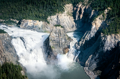 Virginia Falls in Nahanni National Park - Northwest Territories, Canada